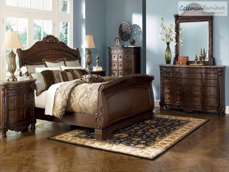 Ashley Millennium Bedroom Set Table Wrought Iron and Glass Bench Style Coffee Tables