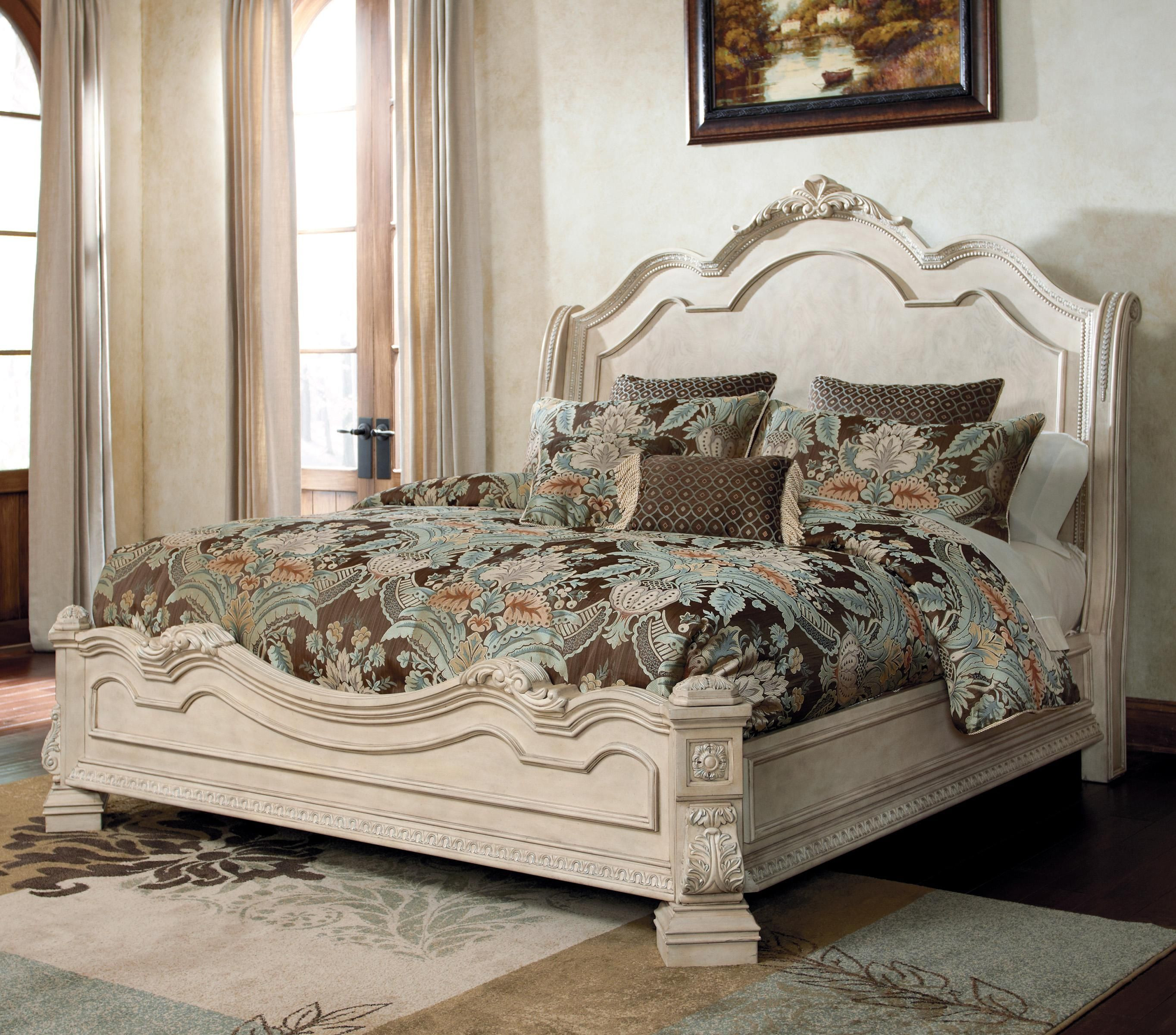 Ashley Millennium Bedroom Set the ortanique Traditional Queen Bed with Sleigh Headboard